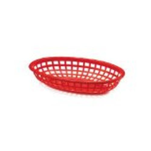 Tablecraft - Basket, Oval Red 7.75' x 5.5' x 2'  Mini - 1071R