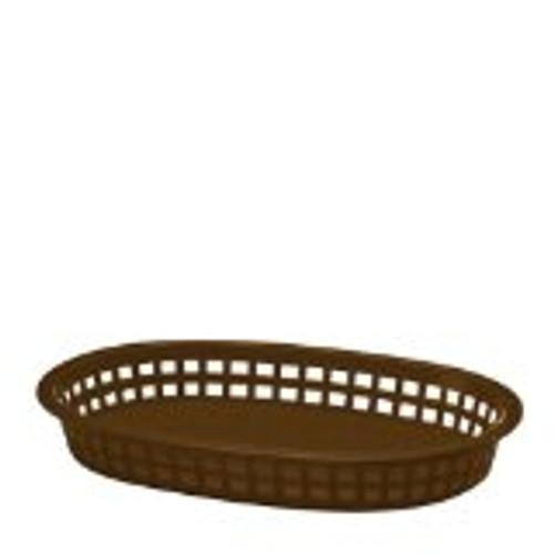 Tablecraft - Basket, Oval 'Chicago' Brown 10.5' x 7' x 1.5 - 1076BR