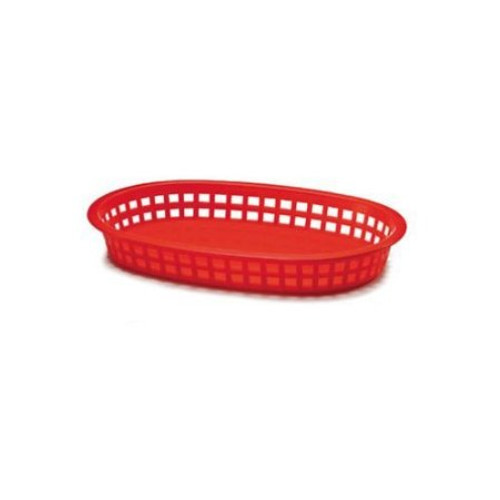 Tablecraft - Basket, Oval 'Chicago' Red 10.5' x 7' x 1.5' - 1076R