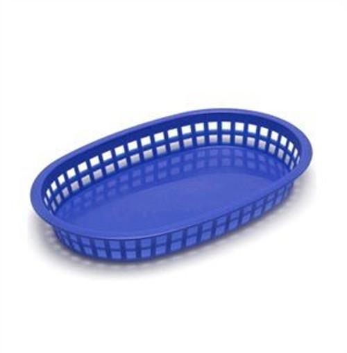 Tablecraft - Basket, Oval 'Chicago' Blue 10.5' x 7' x 1.5 - 1076BL