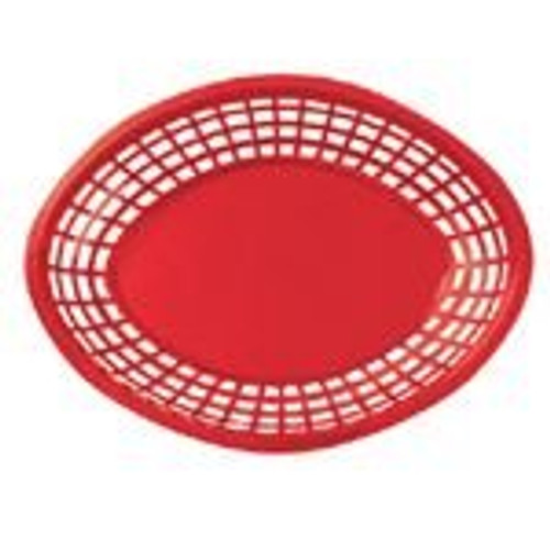 Tablecraft - Basket, Oval Red Jumbo 11.75' x 9' x 2'  - 1084R