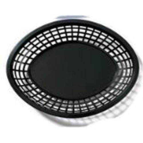 Tablecraft - Basket, Oval Black Jumbo 11.75' x 9' x 2' - 1084BK