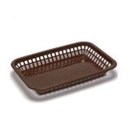 Tablecraft - Basket, 11' x 8' x 1' Plastic Brown - 1077BR