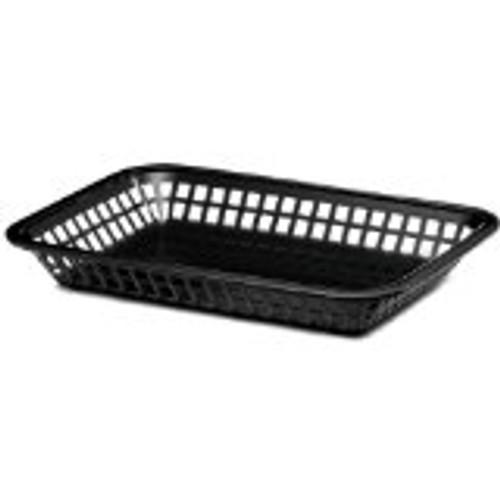 Tablecraft - Basket, Plastic 10.5' x 7' x 1.5' Black - 1077BK