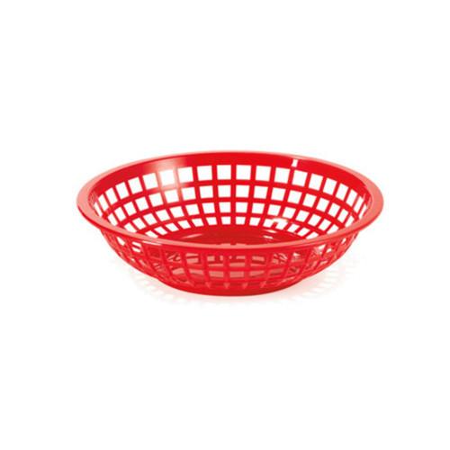 Tablecraft - Basket, Round Red 7.75' x 5.5' x 2' - 1075R