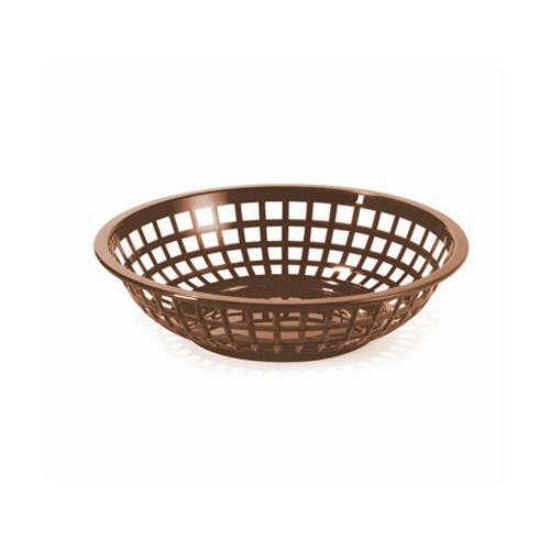 Tablecraft - Basket, Round Brown 7.75' x 5.5' x 2' - 1075BR