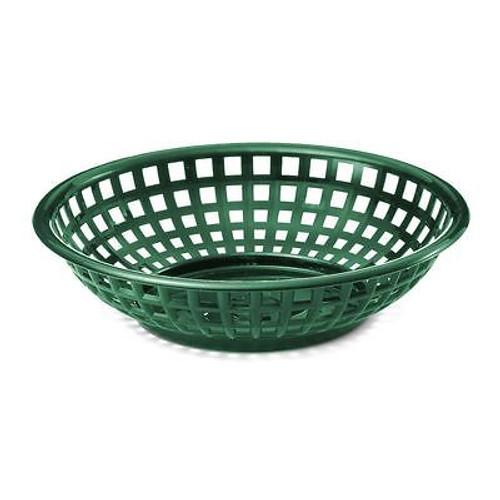 Tablecraft - Basket, Round Forest Green 7.75' x 5.5' x 2' - 1075FG