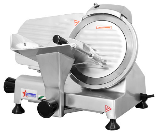 "Omcan - 9"" Belt-Driven Economy Meat Slicer"
