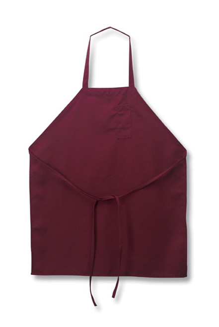 John G. Brown Apparel - Burgundy Full Bib Apron - 1001BG