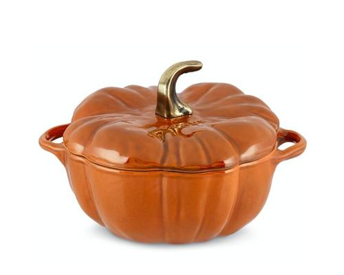 Staub - 3.25 L (3.5 QT) Cinnamon Orange Cast Iron Pumpkin Cocotte