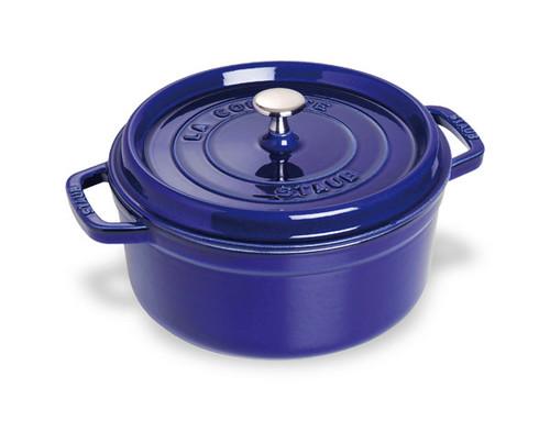 Staub - 3.8 L (4 QT) Dark Blue Round Cocotte
