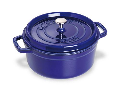 Staub - 5.2 L (5.5 QT) Dark Blue Round Cocotte