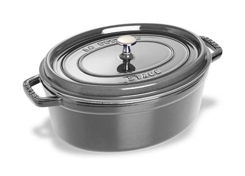 Staub - 4.2 L (4.25 QT) Grey Oval Cocotte