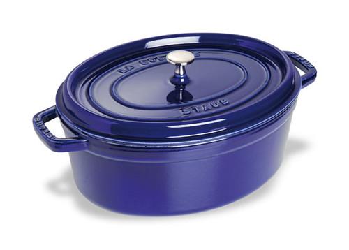 Staub - 4.2 L (4.25 QT) Dark Blue Oval Cocotte - 40510-288