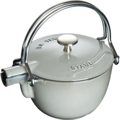 Staub - 1.1 L (1.16 QT) Grey Cast Iron Teapot