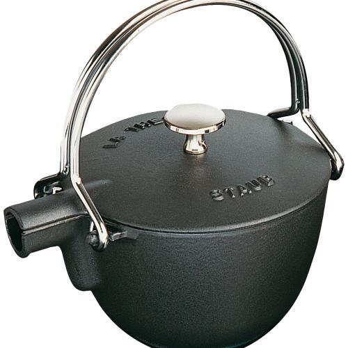 Staub - 1.1 L (1.16 QT) Black Cast Iron Teapot