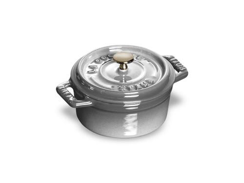 Staub - 0.25L (0.25 QT) Grey Round Mini Cocotte