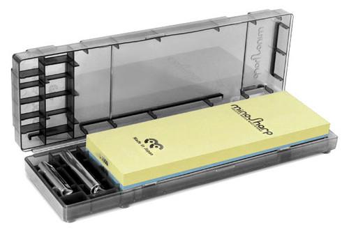 "Global - 8.25 x 2.75 x .75"" MinoSharp 1000/8000 Grit Combination Water Stone Kit - GLB-472"