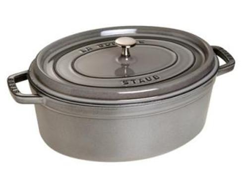 Staub - 3.2 L (3.4 QT) Grey Oval Cocotte