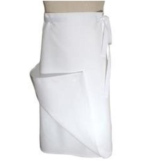 Chef Revival - 4 Sided White Chef Bistro Apron - 90041