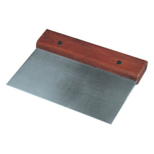 "WFE - 6"" Stainless Steel Dough Scraper - DSC3"