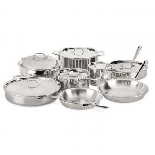 All-Clad - 14 Pc Stainless Cookware Set