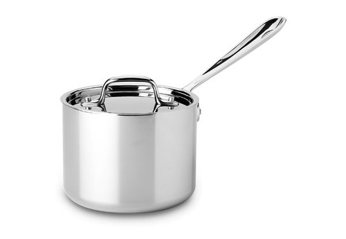 All-Clad - 2 QT Stainless Saucepan with Lid - 4202