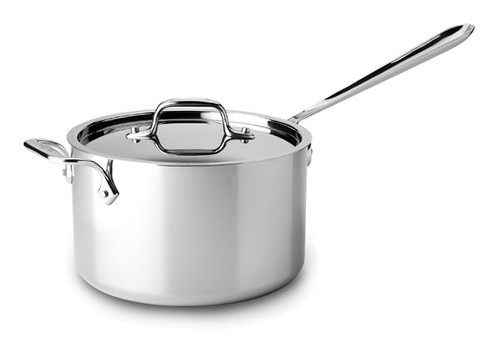 All-Clad - 4 QT Stainless Saucepan with Loop Handle