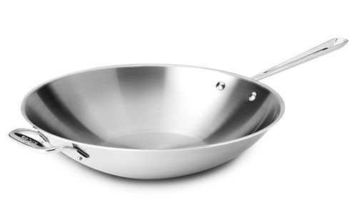 """All-Clad - 14"""" Stainless Stir Fry Pan"""