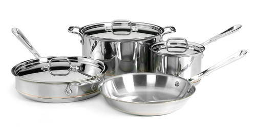All-Clad - 7 Pc Copper Core Signature Cookware Set - 60007SS
