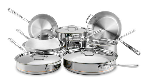 All-Clad - 14 Pc Copper Core Ultimate Cookware Set - 60090 SS