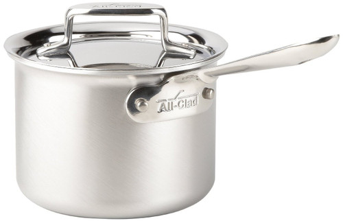 All-Clad - 2 QT d5 Brushed Stainless Saucepan with Lid - BD55202