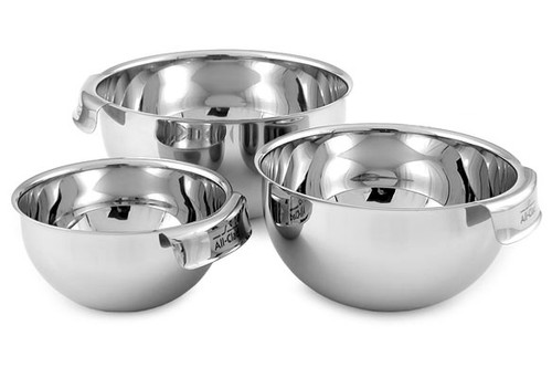 All-Clad - 3 Pc Stainless Steel Mixing Bowl Set - MBSET