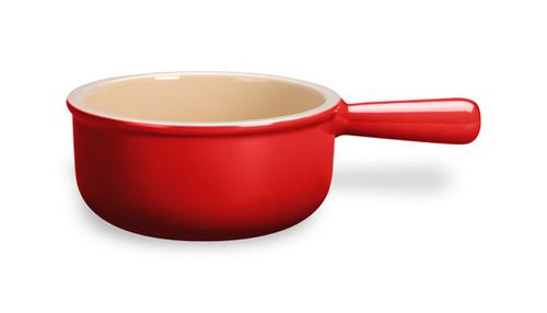 Le Creuset - .47 L (0.5 QT) Cherry French Onion Soup Bowl