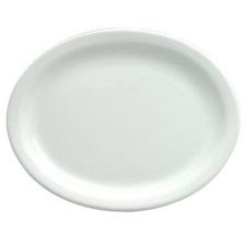 """World Tableware - Bright White Platter 13 1/8"""" - 840530N18"""