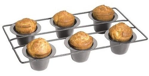 Fox Run - Non-Stick Linking Popover 6-Cup Muffin Pan