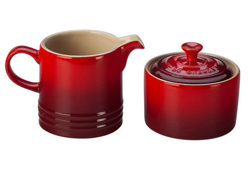 Le Creuset - Cherry Cream and Sugar Set