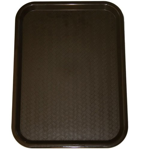 "Cambro - 14"" x 18"" Brown Fast Food Tray - 1418F167"