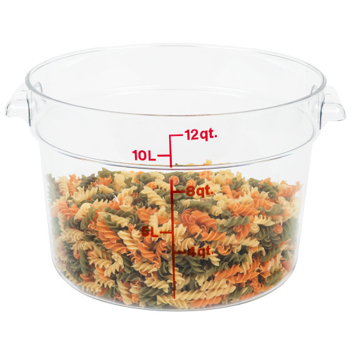 Cambro - 12QT Clear CamWear Round Container