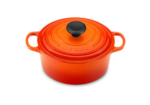 Le Creuset - 1.8 L (2 QT) Flame French Round Dutch Oven