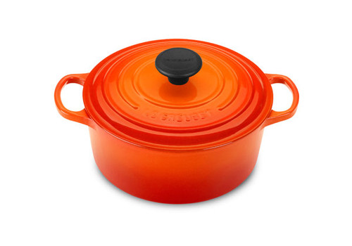 Le Creuset - 3.3 L (3.5 QT) Flame French Round Dutch Oven