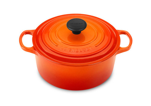 Le Creuset - 4.2 L (4.5 QT) Flame French Round Dutch Oven
