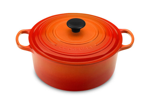 Le Creuset - 5.3 L (5.5 QT) Flame French Round Dutch Oven