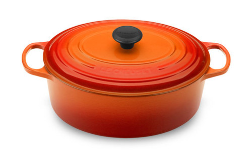 Le Creuset - 6.3 L (6.75 QT) Flame French Oval Dutch Oven