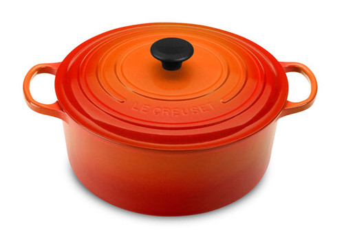 Le Creuset - 6.7 L (7.25 QT) Flame French Round Dutch Oven