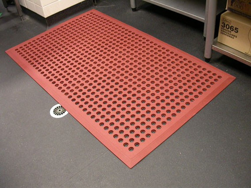 WFE - Anti-Fatigue Mat, Red (Grease/Water Resistant) - AFD3660TT