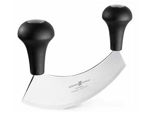 "Wusthof - 9"" Double Handled Mincing Knife - 4732"
