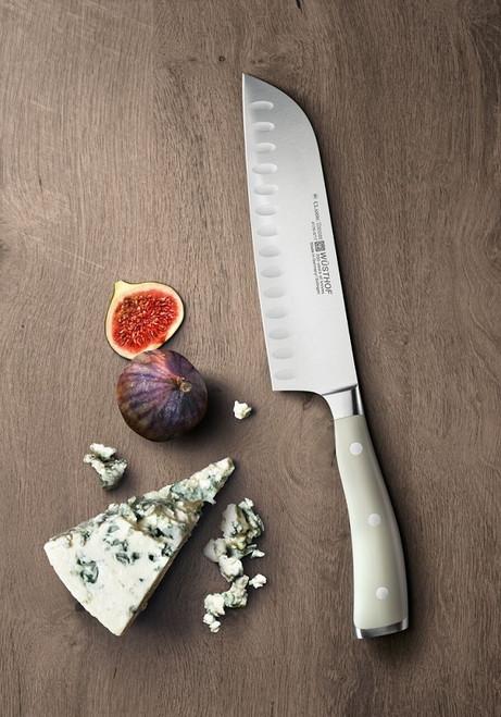 "Wusthof - 7"" Classic Ikon Creme Santoku Knife - 4176-0"
