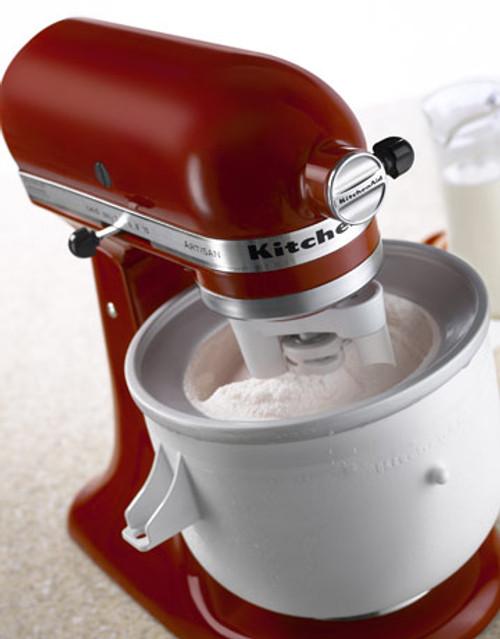 KitchenAid - Ice Cream Maker Mixer Attachment - 4KICAOWH