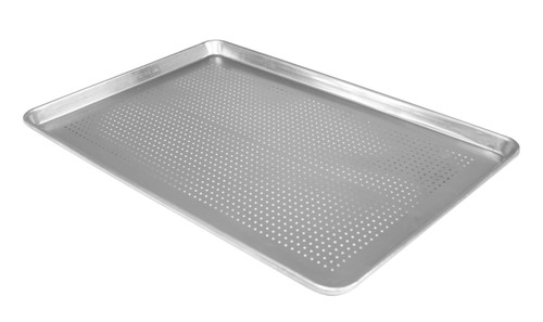 "Crown -  13"" x 18"" Perforated Aluminum Baking Sheet - 81318"